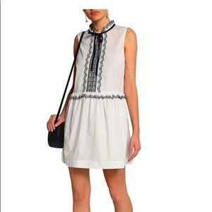 Designer Valentino White Poplin Mini-Dress